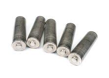 Satz unbeschriftete AA-Batterien Lizenzfreies Stockfoto