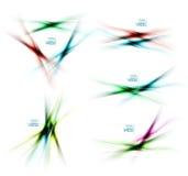 Satz unscharfe Farbschattenlinien Gestaltungselemente vektor abbildung