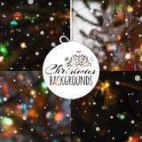 Satz unscharfe Vektor Weihnachtshintergründe Stockbilder