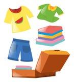 Satz unterschiedliche Kleidung Stockfoto
