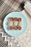Satz vegetarische Süßigkeiten lizenzfreie stockbilder