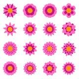 Satz Vektor-Blumen Stockbilder