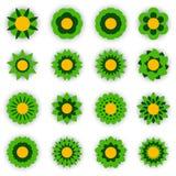 Satz Vektor-Blumen Stockbild