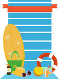 Satz Vektorbilder - Strandzubehör Lizenzfreies Stockfoto