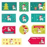 Satz Vektorelemente für Weihnachten und neues Jahr entwerfen Lizenzfreies Stockfoto