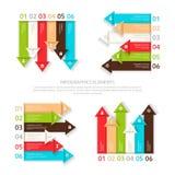 Satz Vektorgestaltungselemente sechs Wahlen für infographic Lizenzfreies Stockfoto