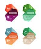 Satz Vektorzusammenfassung infographics Inhaltskästen vektor abbildung
