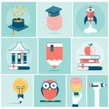 Satz in Verbindung stehende Konzeptfahnen der Bildung Stockbild