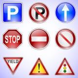 Satz Verkehrsschilder stock abbildung