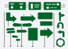 Satz Verkehrsschilder lokalisiert r lizenzfreie abbildung