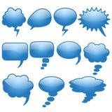 Satz verschiedene blaue Gegenstände der Gedankenwolke elf Lizenzfreie Stockfotografie