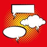 Satz verschiedene Comic-Buch-Blasen lokalisiert Lizenzfreies Stockfoto