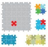 Verschiedene Größen von Puzzlespielen stock abbildung
