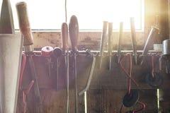 Satz verschiedene Heimwerkerwerkzeuge Lizenzfreie Stockbilder