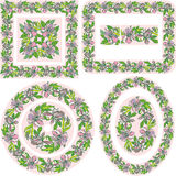Satz verschiedene Muster und Grenzen - Quadrat, bezüglich Lizenzfreie Stockfotos