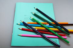 Satz verschiedene Schuleinzelteile, Vektorillustration Lizenzfreie Stockfotografie