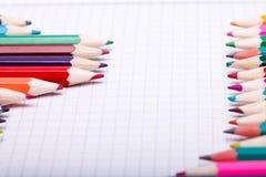 Satz verschiedene Schuleinzelteile, Vektorillustration lizenzfreie stockfotos