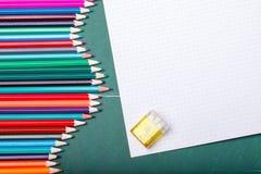 Satz verschiedene Schuleinzelteile, Vektorillustration Lizenzfreies Stockfoto