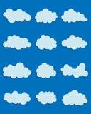 Satz verschiedene Wolken Stockfotos