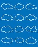 Satz verschiedene Wolken Lizenzfreie Stockfotos