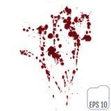 Satz verschiedenes Blut oder Farbe plätschert, Vektor-Satz von unterschiedlichem Lizenzfreie Stockfotografie