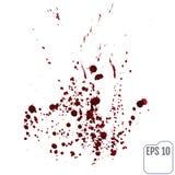 Satz verschiedenes Blut oder Farbe plätschert, Vektor-Satz von unterschiedlichem Stockfotos