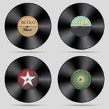 Satz Vinylaufzeichnungen lizenzfreie abbildung