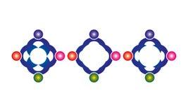 Satz von Abstract Sphere Logo Rounded Globle Circular Logo Template Modern Company Logo Symbol Vector stock abbildung