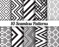 Satz von 10 abstrakten Mustern Lizenzfreie Stockfotos