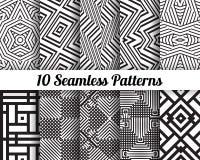 Satz von 10 abstrakten Mustern vektor abbildung