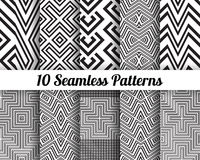 Satz von 10 abstrakten Mustern Stockbild