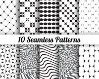 Satz von 10 abstrakten Mustern Lizenzfreies Stockfoto