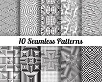 Satz von 10 abstrakten Mustern Stockfotos
