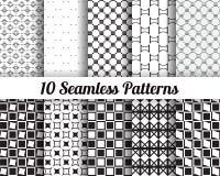 Satz von 10 abstrakten Mustern Lizenzfreies Stockbild