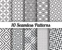 Satz von 10 abstrakten Mustern lizenzfreie abbildung