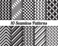 Satz von 10 abstrakten Mustern Stockfotografie