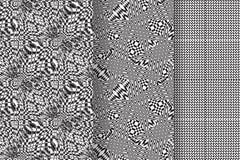 Satz von 3 abstrakten Mustern Stockfotografie