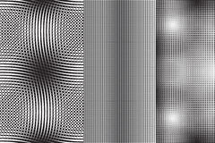 Satz von 3 abstrakten Mustern stock abbildung