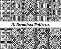 Satz von 10 abstrakten Mustern Lizenzfreie Stockbilder