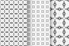 Satz von 3 abstrakten Mustern Lizenzfreie Stockfotografie