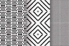 Satz von 3 abstrakten Mustern Stockbilder