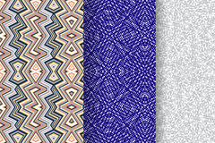 Satz von 3 abstrakten Mustern Stockfoto