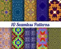 Satz von 10 abstrakten Mustern Stockbilder