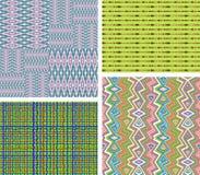 Satz von 4 abstrakten Mustern Lizenzfreie Stockbilder