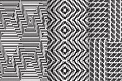 Satz von 3 abstrakten Mustern Stockfotos