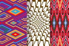 Satz von 3 abstrakten Mustern Stockbild