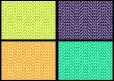 Satz von 4 abstrakten nahtlosen geometrischen Mustern Stockfoto