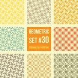 Satz von acht geometrischen Mustern Lizenzfreie Stockbilder