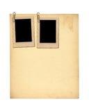 Satz von alten Archivpapieren und von Weinlesepostkarte Lizenzfreies Stockfoto