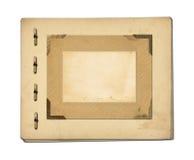 Satz von alten Archivpapieren und von Weinlesepostkarte Lizenzfreie Stockfotografie